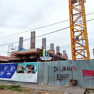 Progress Pembangunan partemen Murah De'Glass Residence Hanya 300 Jutaan Di Medan, 1 Menit Ke Kampus UNPRI, Potensi Pasif Income Besar