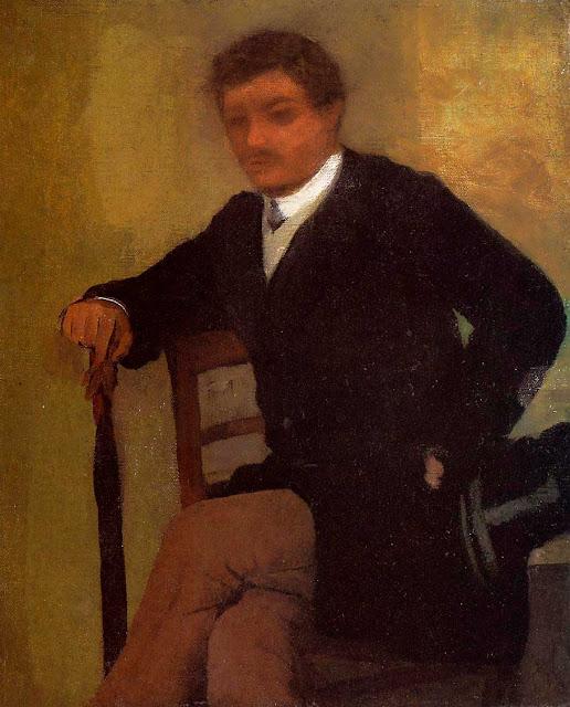 Эдгар Дега - Молодой человек в пиджаке с котелком (1864-1868)