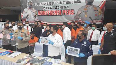 Pelaku Begal di Lampu Merah Medan Terungkap, 7 Orang Jadi Tersangka, Pernah Bunuh Abang Kandung