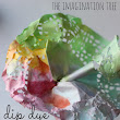 The Imagination Tree: Dip Dye Doily Flowers