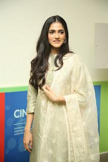 Indian Model Simran Chowdary in Sandal Color Churidar Dress at Sehari Movie Launch Function (2)
