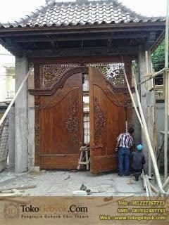 Gapura / Gerbang Ukir Jati Jepara 3 M