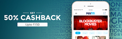 Paytm – Get 50% Cashback on Booking Movie Tickets