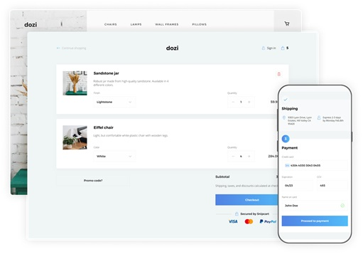 Snipcart  JavaScript and HTML for e Commerce