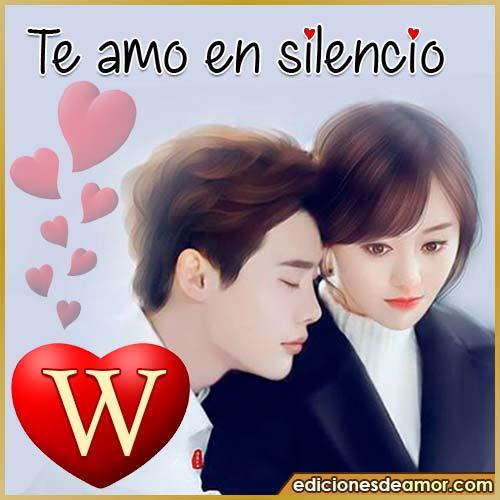te amo en silencio W