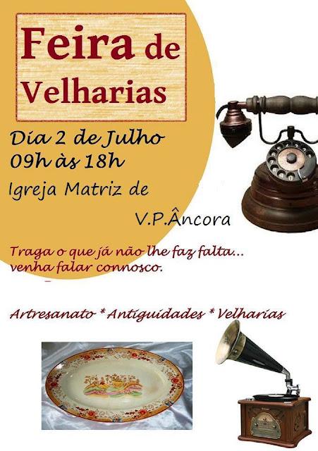 Imagem do Cartaz da Feira de Velharias em Vila Praia de Âncora