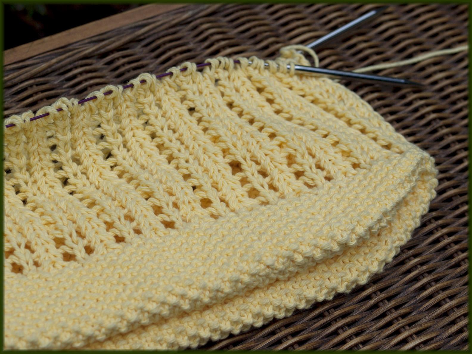 Wyndlestraw Designs: Market Bag Knit-along #5 - Picking up stitches