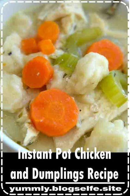 Instant Pot chicken and dumplings recipe is so yummy!i Takes just 20 minutes to make the best pressure cooker chicken recipe ever. The ultimate comfort food made in no time at all and a complete meal all wrapped up in one. #instantpot #pressurecooker #chickenanddumplings #chicken #soup #dumplings #instantpotrecipes #thetypicalmom #ninjafoodi