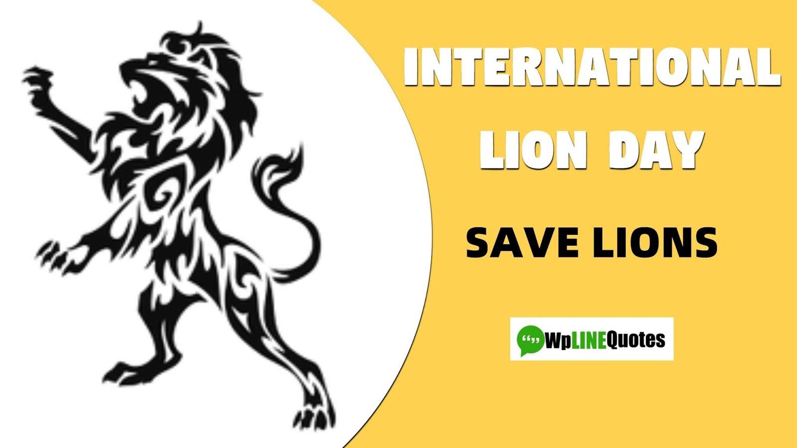 international lion day, world lion day