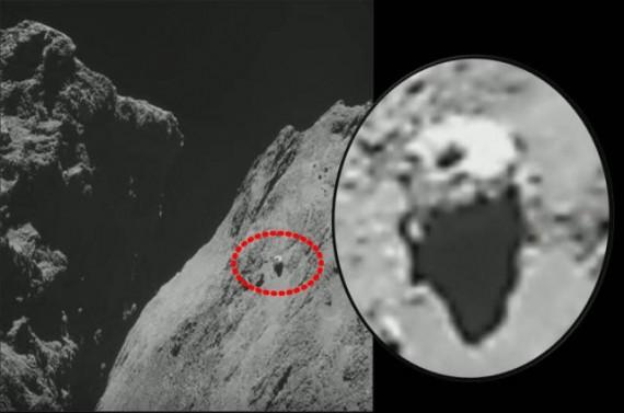 UFO Terlihat Di Permukaan Komet 67P