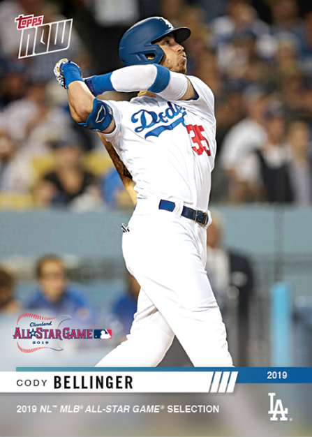 2019 TOPPS NOW #477 CODY BELLINGER HR MARKS 5TH STRAIGHT HOME GAME WITH WALK-OFF
