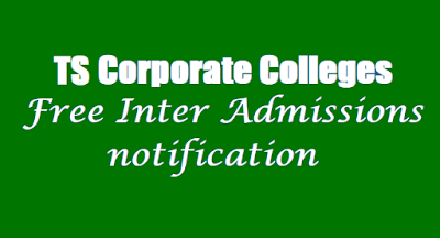 TS corporate college admissions 2021-2022 drda inter epass apply online