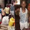 A 12 YEAR OLD EMPUTEE PURE WATER SELLER RECEIVE MONEY AND FOOD STUFF FROM AN IGBO GROUPS.