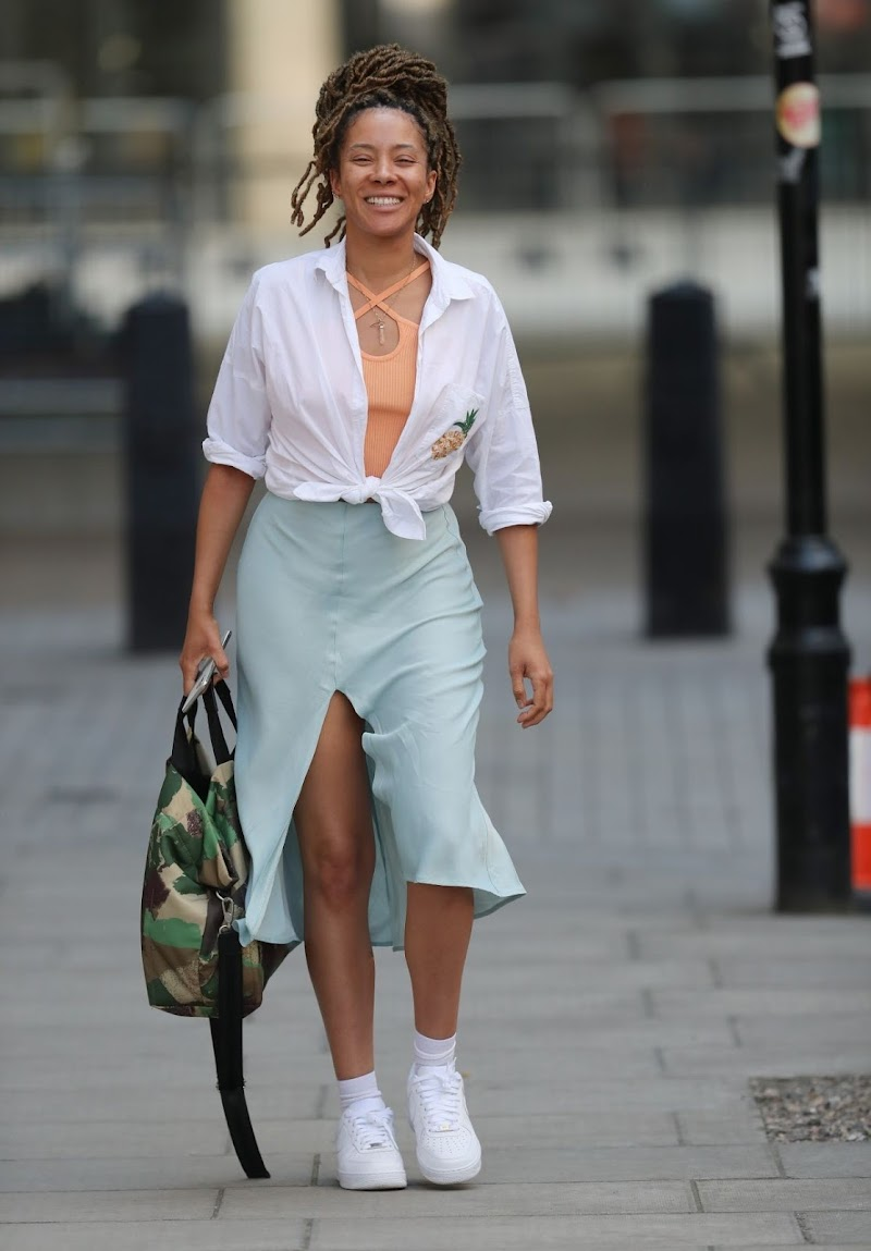 Yasmin Evans Leaves BBC 1Xtra Studios in London 7 May -2020