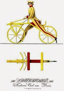 Bicycle illustration by Karl Drais