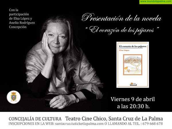 El Teatro Chico acoge la presentación de la novela 'El corazón de los pájaros' de Elsa López