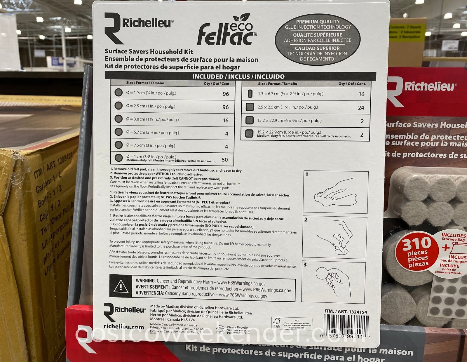 Costco 1050068 - Richelieu Surface Savers Household Kit: essential for your home furniture