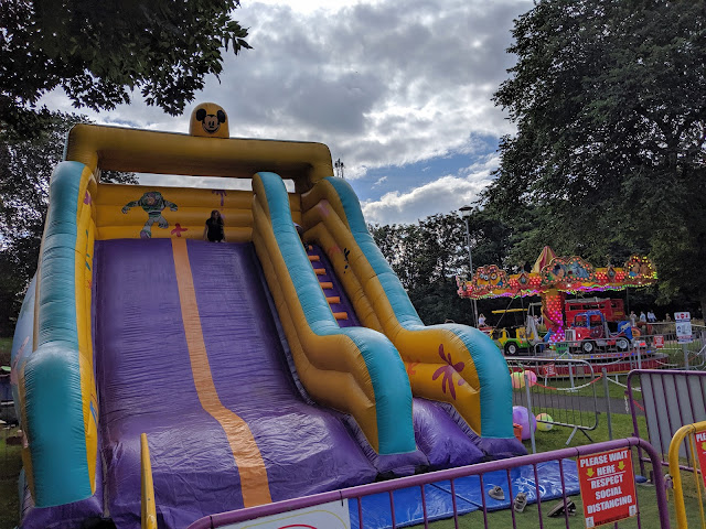 Ridley Park, Blyth - One of the best parks in Northumberland - fairground rides and bouncy castle