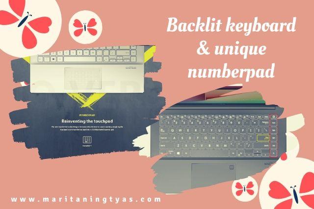 backlit keyboard dan touchpad