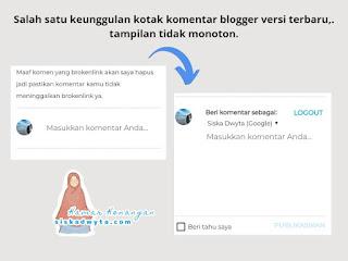 Tampilan komentar blogger versi terbaru tidak monoton