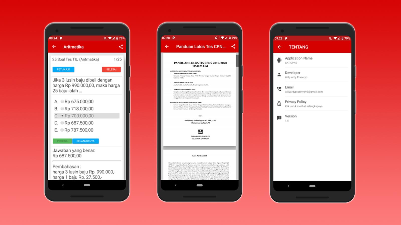 Aplikasi Simulasi CAT CPNS Berbasis Android