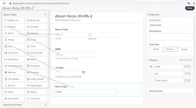 Cara membuat Absen Online mudah dan gratis