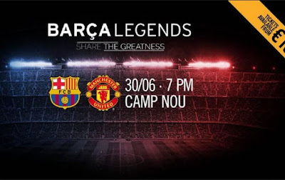 Fenomenal, Tim Legendaris Barcelona Vs Tim Legendaris Manchester United