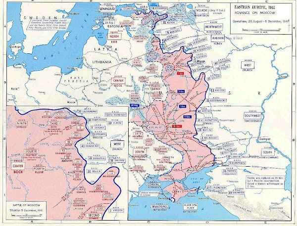 Map Of Russia In Ww2