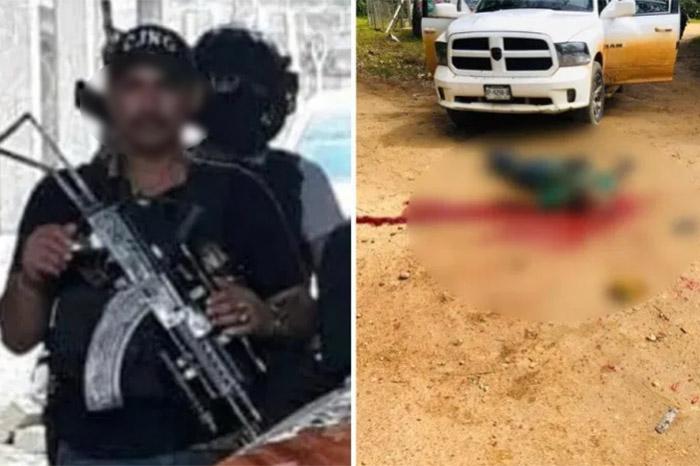 """Fotos; Ni Armado, ni Empecherado se salvó """"El Quemado"""" líder del CJNG en Veracruz, fue abatido durante operativo de la SSP estatal"""