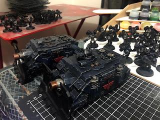 Dark Angels 30k Horus Heresy Vindicator Tanks
