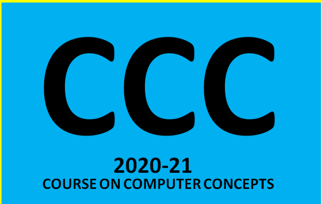 CCC Kya Hota hai (Course On Computer Concepts) - CCC (NIELIT)