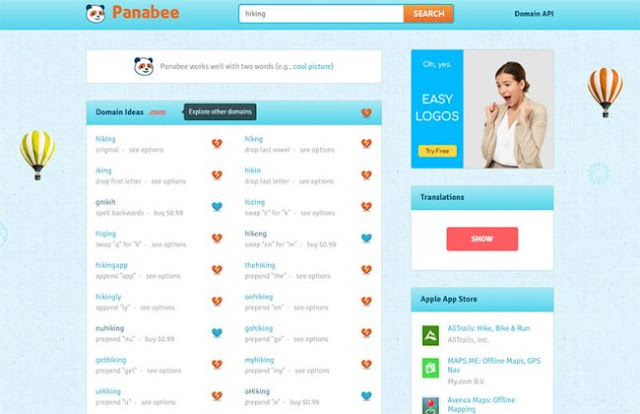 Panabee blog and website domain name generator 2021