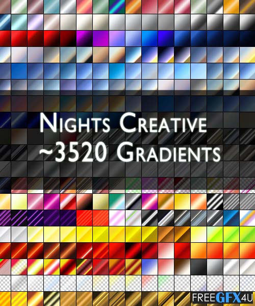Nights Creative 3520+ Gradients For Photoshop