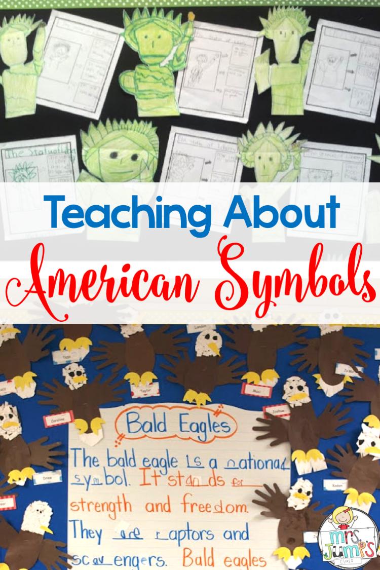 medium resolution of American symbols for kids in kindergarten and first grade
