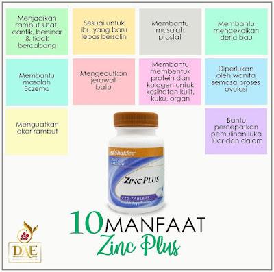 manfaat zinc plus, kelebihan zinc plus, zink, zinc