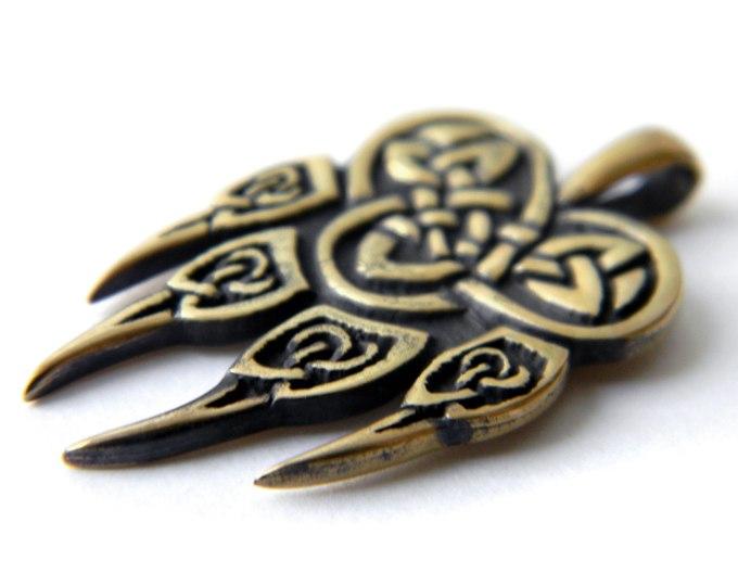 металлический бронзовый кулон печать велеса волчья лапа купить в интернет магазине симферополь