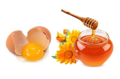 Mặt nạ căng bóng da từ mật ong và trứng gà
