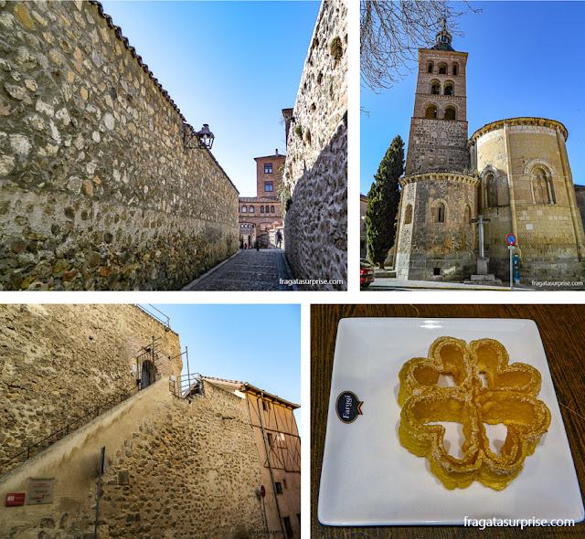 Judería de Segóvia, Igreja de San Andrés, acesso à muralha de Segóvia e um doce típico da cidade