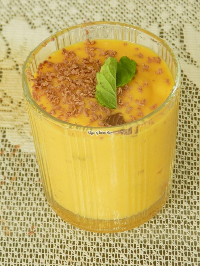Mango Chocolate Milkshake