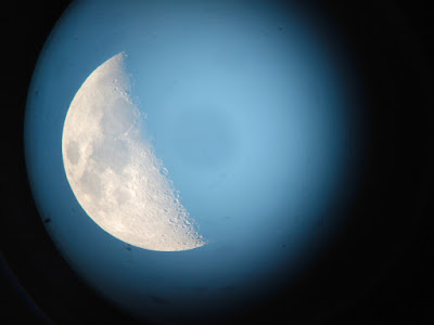 Moon in daylight - Lunar X forming