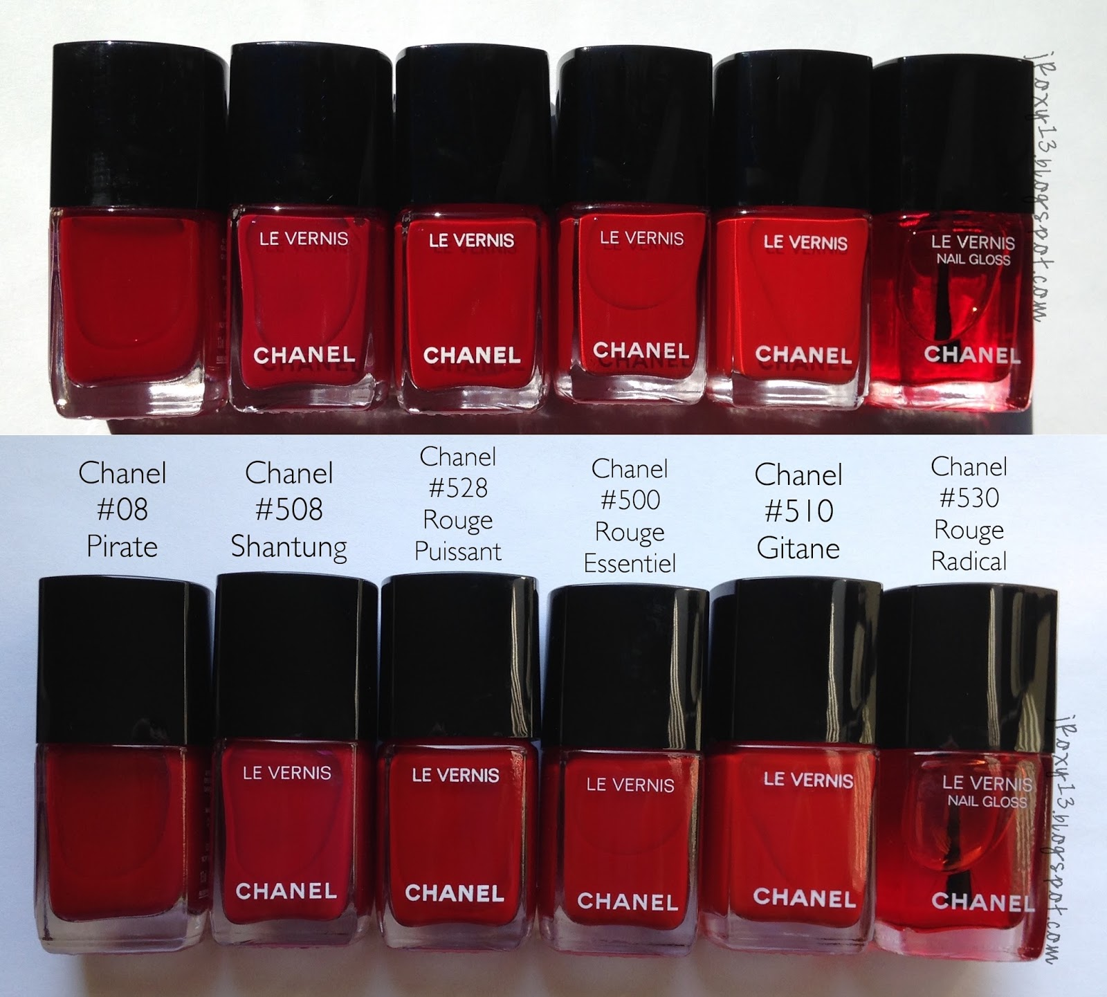 Chanel in #528 Rouge Puissant & #530 Rouge Radical Swatches + ...