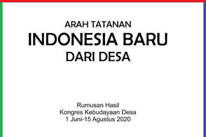 Arah Tatanan Baru Indonesia dari Desa