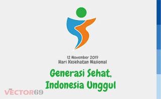 Logo Hari Kesehatan Nasional (HKN) 12 November 2019: Generasi Sehat, Indonesia Unggul - Download Vector File EPS (Encapsulated PostScript)