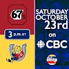 Barrie Colts host Ottawa 67's on CBC | October, 23rd