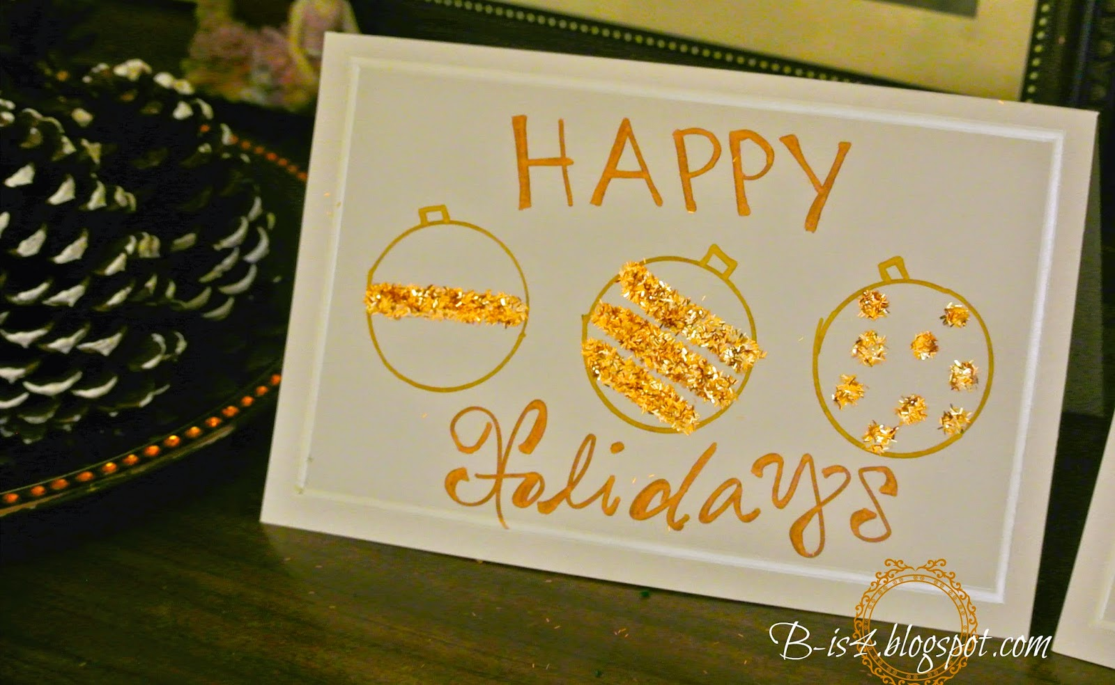 B Is 4 Ideas For DIY Homemade Holiday Cards