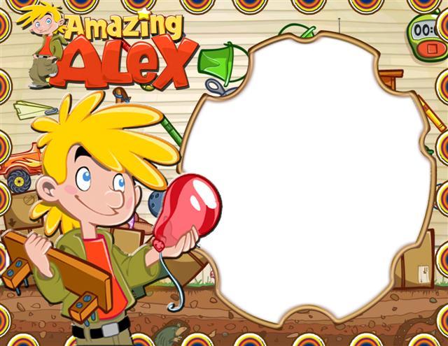 Marco digital inspirado en el juego Amazing Alex