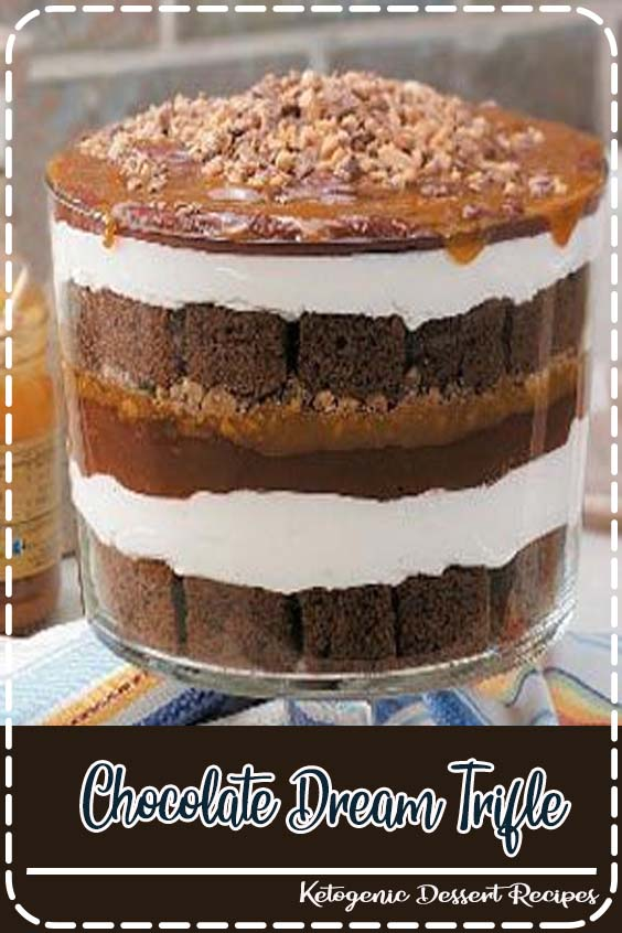 A highlight of our annual family reunion is the dessert competition Caramel Chocolate Trifle