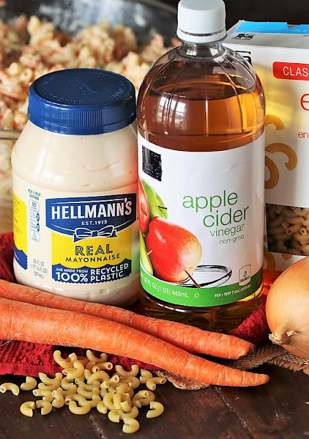 Hawaiian Macaroni Salad Ingredients Image