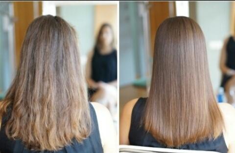 Yupss rambut yang sebelumnya super duper ngembang kusam dan kering jadi  lembut berkilau dan mudah diatur bak sutra 57a232c401