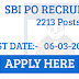 SBI PO 2017 Notification Released 2213 Posts: Appy Online Here
